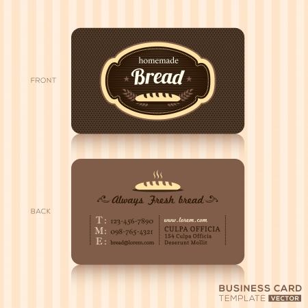Tarjeta de visita de la panadería Casa Plantilla de Diseño