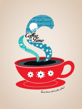 Coffee Time concept graphic Illustration Illustration
