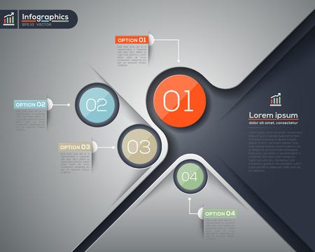 diagrama de procesos: Infografía vector moderno del diseño de diseño gráfico