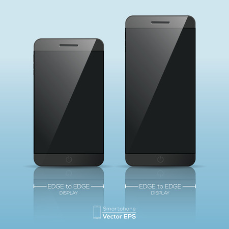 touch phone: Responsive smart phone mockup vector