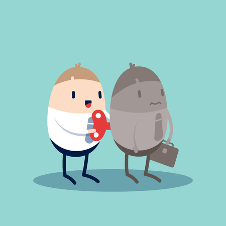 windup: Businessman With Wind-up Key In His Back Motivation concept illustration Illustration