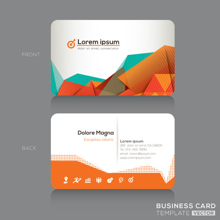 Modern Abstract Business cards Design Template Фото со стока - 27463134