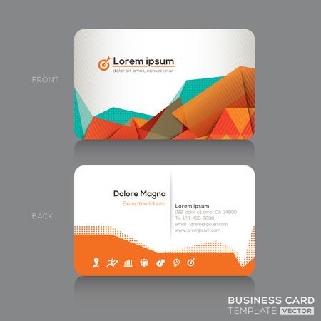 Moderne abstrakte Visitenkarten Design Template Standard-Bild - 27463134