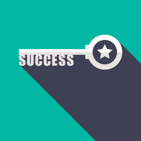 key to success: Key to Success minimal style concept illustration Illustration