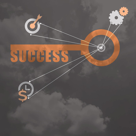 key to success: Key to Success business concept background design