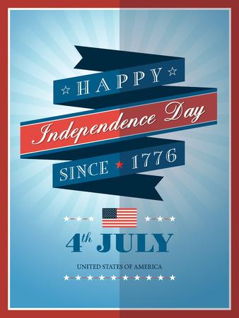 independencia: 04 de julio de la Independencia de fondo de la cinta para el d�a de tarjeta o p�ster