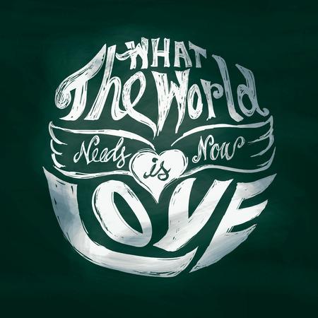 Lo que el mundo necesita ahora es amor arte letras en círculo Foto de archivo - 30046910