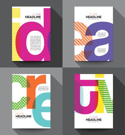 magazine cover: Creative Brochure Flyer design template in A5 size