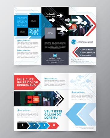 fold back: Tri fold Brochure Flyer design layout vector template in A4 size Illustration