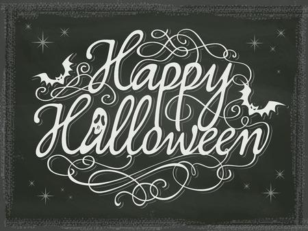 halloween background: Vintage Halloween background chalkboard