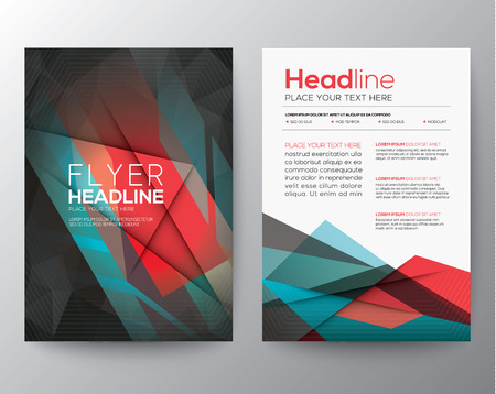 Abstract Triangle Geometric Brochure Flyer design Layout template in A4 size