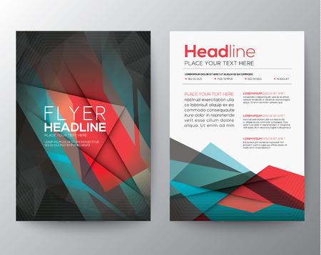 Abstraktes Dreieck Geometrische Broschüre Flyer Design Layout-Vorlage im A4-Format Illustration