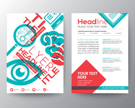 flyer template: Typography Brochure Flyer design Layout Illustration