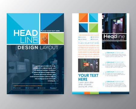 template: Brochure Flyer ontwerp lay-out sjabloon in A4-formaat Stock Illustratie