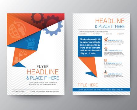 Abstract Driehoek Brochure Flyer ontwerp Vector Lay-out in A4-formaat Stock Illustratie