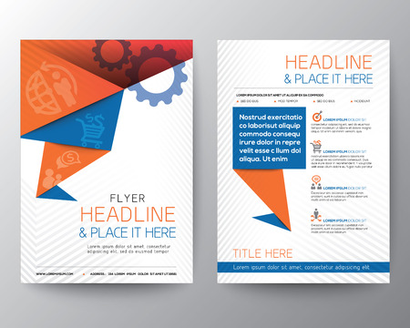 Abstract Triangle Brochure Flyer design Vector Layout in A4 size Imagens - 31158249
