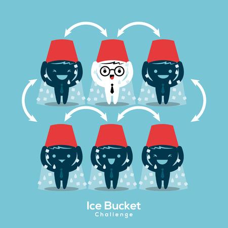 viral disease: als ice bucket challenge concept vector illustration