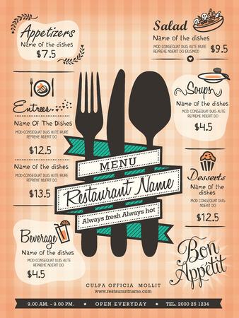 Restaurant-Menü-Layout-Design-Vorlage