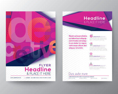 book cover: Abstract Triangle Brochure Flyer design Layout template in A4 size Illustration