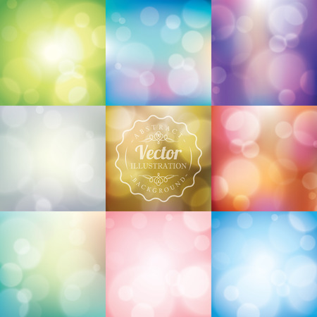 blurred lights: Abstract blurred lights bokeh background Illustration