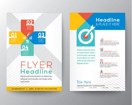 template: Brochure Flyer grafisch ontwerp lay-out vector sjabloon in A4-formaat
