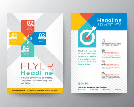Brochure Flyer graphic design Layout vector template in A4 size Illustration
