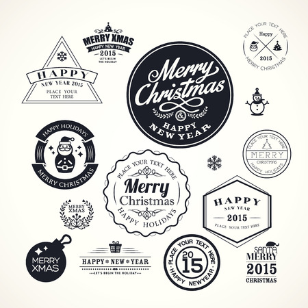 holidays and celebrations: christmas decoration frame vector design elements