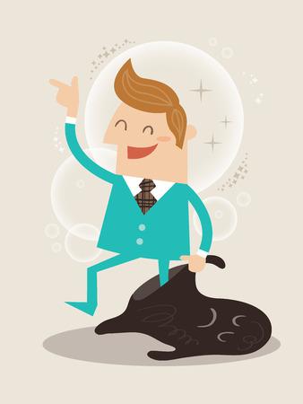 habits: New you self improvement concept illustration