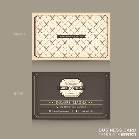 name card: Classic Business card Design Template