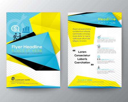 flyer: Abstract Triangle Geometric Brochure Flyer design Layout template in A4 size