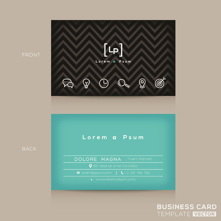 business  concepts: Modern Trendy Business card Design Template
