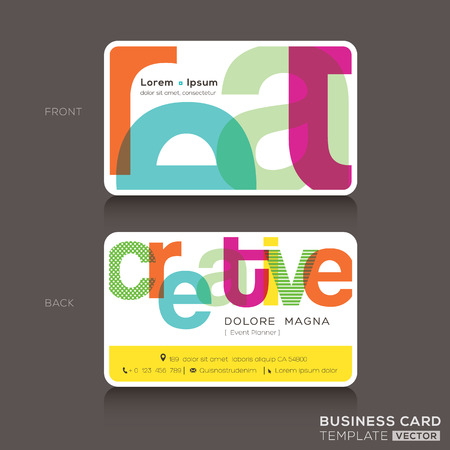 bright card: Creative Business cards Design Template