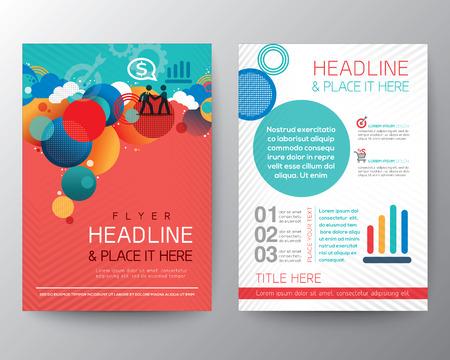 Abstrakter Kreis Design Broschüre Flyer-Layout Vektor-Vorlage im A4-Format Illustration