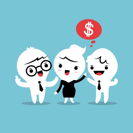 with friends: recomendar a un amigo referido concepto ilustraci�n de dibujos animados