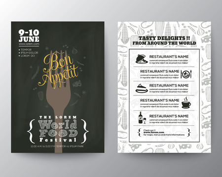 Food Festival Poster Brochure Flyer design Layout vector template