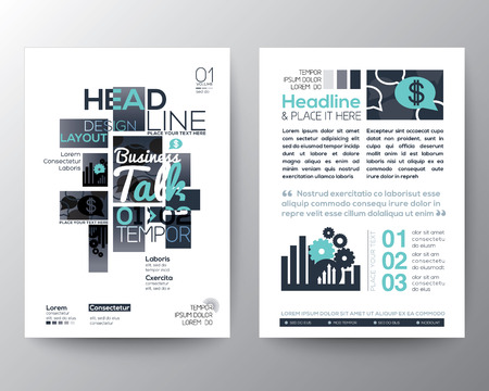 magazine design: Poster Brochure Flyer design Layout vector template in A4 size