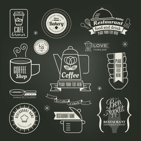 vintage cafe: Vintage retro Restaurant Cafe vector Design
