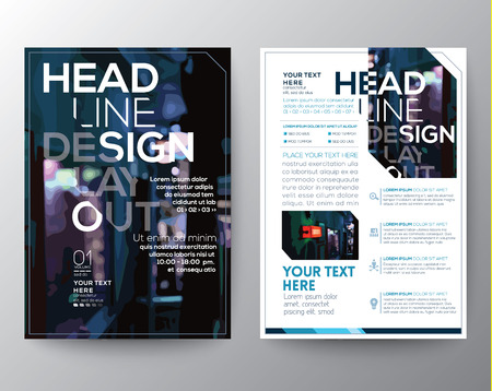 Abstract Vector Brochure Flyer design Layout template in A4 size Çizim