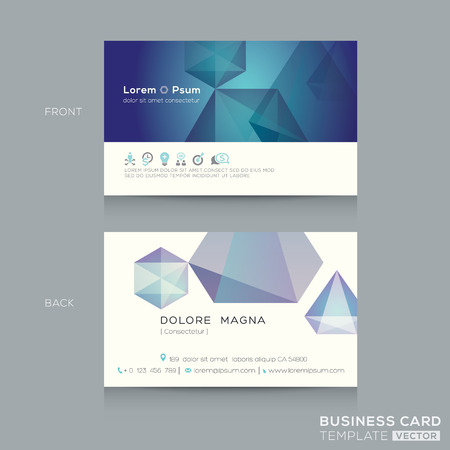 business ideas: abstract low poly design business card Template
