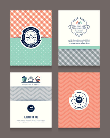 pastels: Vintage frames and backgrounds Design Template for Flyer Brochure Book Cover Business card Menu