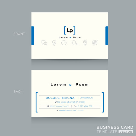 my name is: Minimal clean design business card Template