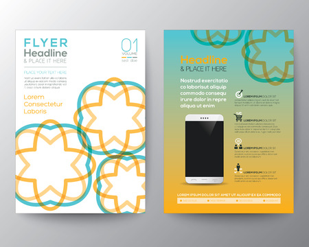 Vector Brochure Flyer design Layout template in A4 size 向量圖像