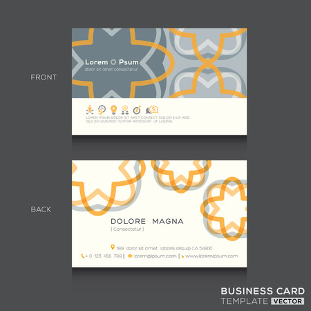 namecard: Retro Business cards Design Template