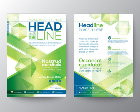 a4: Abstract polygon design vector template layout for magazine brochure flyer booklet cover annual report in A4 size