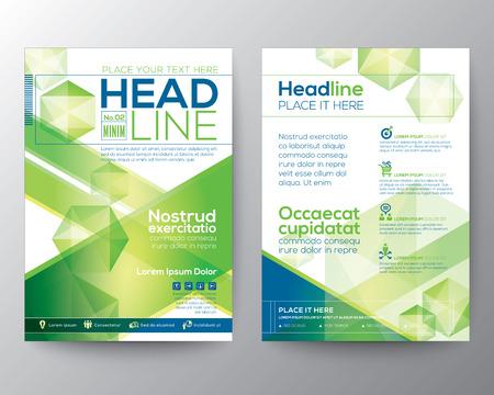 portadas de libros: Diseño polígono plantilla de diseño de vectores de fondo para la revista folleto folleto folleto cubre el informe anual de tamaño A4 Vectores