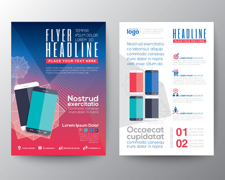 Abstract design template layout for magazine brochure flyer booklet cover annual report in A4 size Illustration