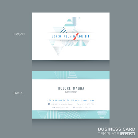 Minimal clean Abstract triangle stripe shape design business card Template Illustration