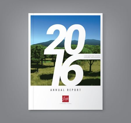 poster design: Number 2016 typography design on abstract background for business annual report book cover brochure flyer poster