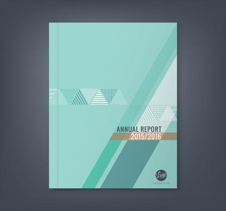 portadas: Fondo raya shape tri�ngulo abstracta para el cartel folleto folleto portada del libro informe anual de negocios Vectores