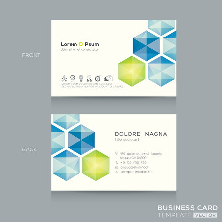 Abstract low poly business card design template